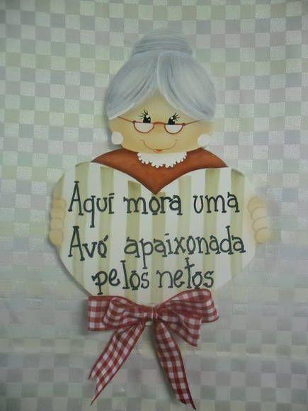 Placa avó | Artesanatos Ingrid Carvalho | 1723AD - Elo7