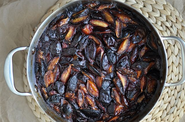 post roasting or- I did it with cooked prunes that were steamed for juice. Not wasteful so I got the puree also from them.