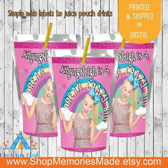 Jojo Siwa Bubble Labels Jojo Siwa  Birthday Bubble Wrappers Jojo Birthday Jojo Siwa Party