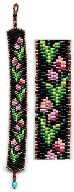 Tulips Beaded Bracelet | Flickr - Photo Sharing!