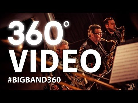 WHAT YOU ARE WATCHING HAS NEVER BEEN DONE BEFORE!  This is the very first 360 video featuring a big band (and rather a good one too!) in a circle facing in towards the camera. It allows you the viewer to be in full control of which part of the performance you watch! Great isn't it?  This video was created and captured by some very talented and creative people below is a list of who was involved...  Vocals: Shane Hampsheir Conductor/arranger: Evan Jolly  Rhythm: Keys: Rob Barron Double Bass…