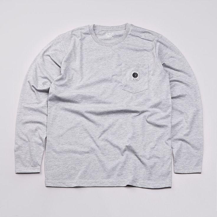 Flatspot - Polar Long Sleeve Pocket T Shirt Heather Grey