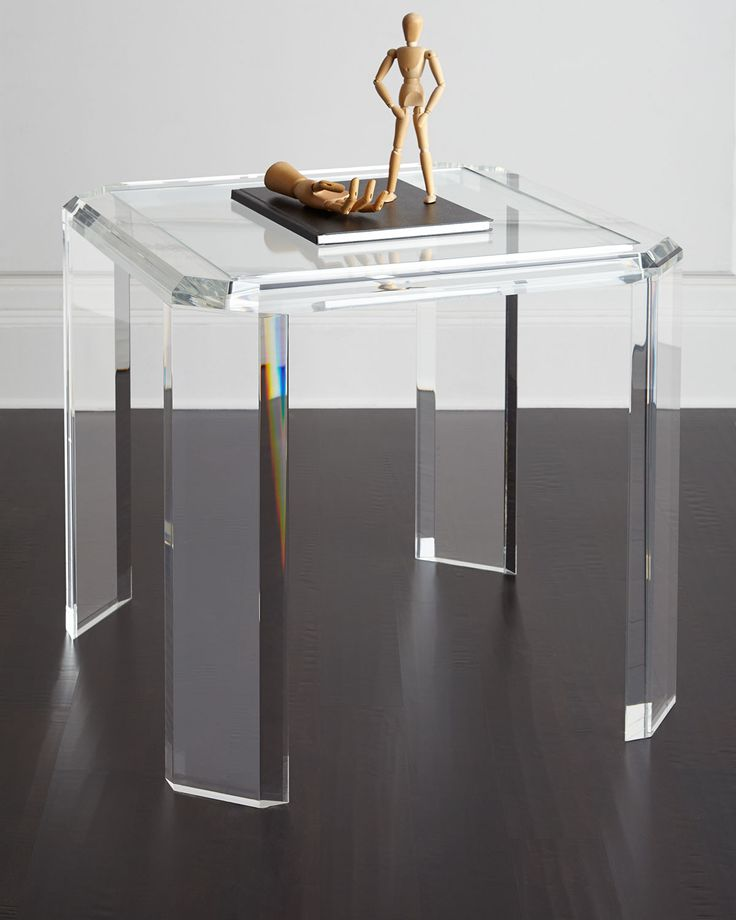 193 best images about lucite on pinterest for Lucite kitchen table