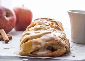 Homemade Cinnamon Apple Strudel, an easy made from scratch dough and filling recipe makes this a delicious anytime dessert.