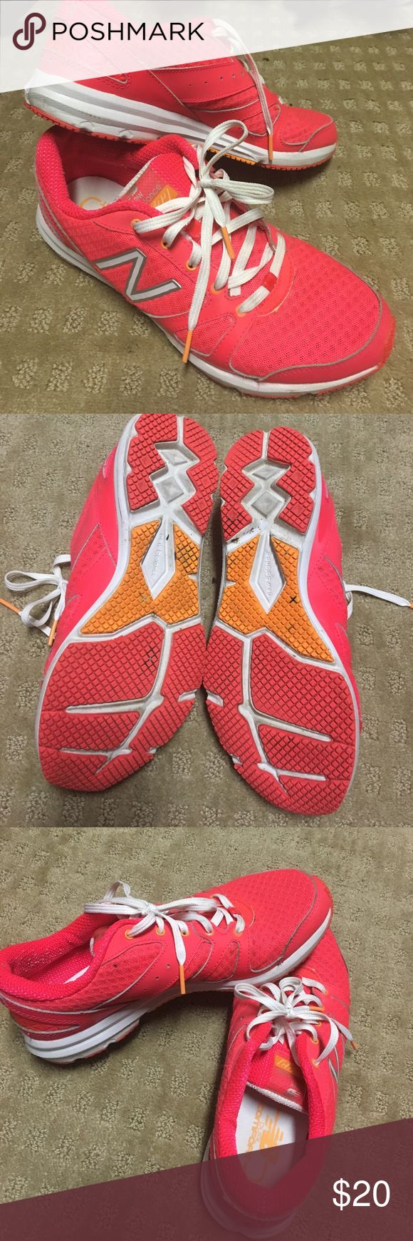 Pink new balance Size 8 barely worn new balance gym shoes. New Balance Shoes Athletic Shoes