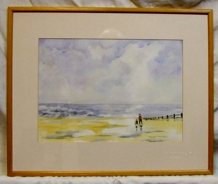 Original contemporary Scottish watercolour painting Margaret McMillan Ebb tide by ElegantPossessions on Etsy