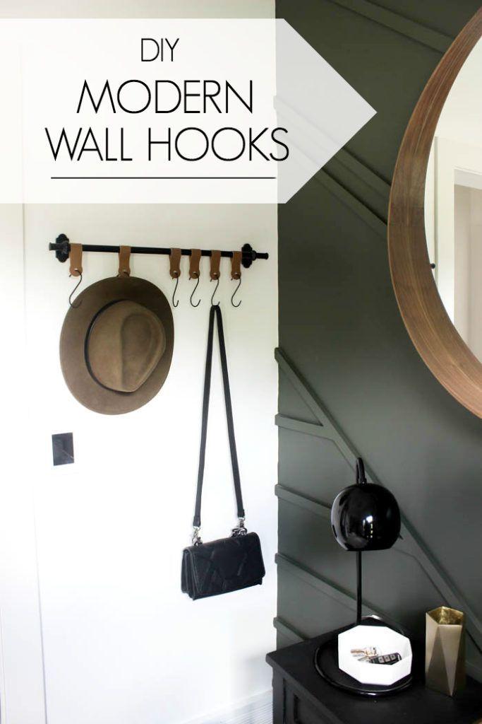 Modern Entry Wall Hooks With A Cricut Wall Hooks Entry Wall Diy Coat Rack
