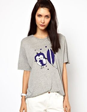 Lulu & Co Tee with Surfer Owl