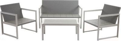 heute-wohnen 2-1-1 Alu-Garten-Garnitur Split, Sitzgruppe Lounge-Set, Poly-Rattan Jetzt bestellen unter: https://moebel.ladendirekt.de/garten/gartenmoebel/gartenmoebel-set/?uid=dc077b32-d039-5c4d-a137-2e2c473368fe&utm_source=pinterest&utm_medium=pin&utm_campaign=boards #garten #gartenmoebel #gartenmoebelset