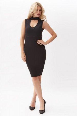 Black Choker Bodycon Dress