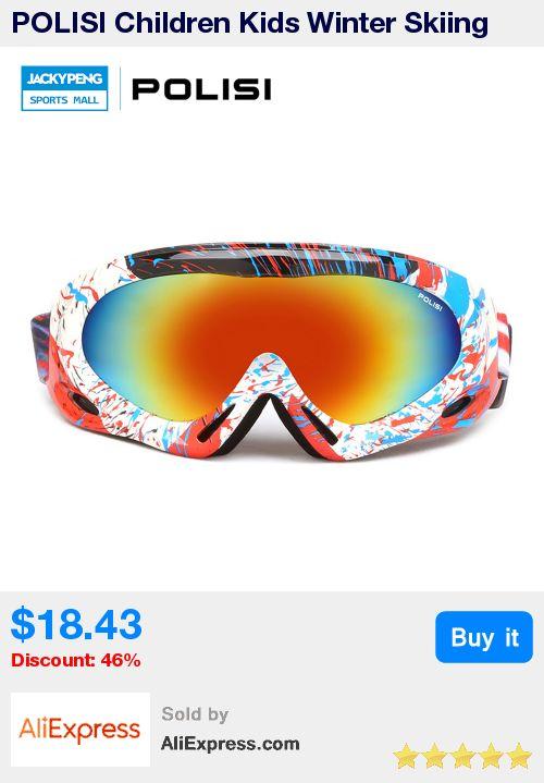 POLISI Children Kids Winter Skiing Eyewear Windproof Snowboard Goggles Snow Gafas Motocross Glasses Skateboard Gafas De Esquiar * Pub Date: 18:29 Jul 1 2017