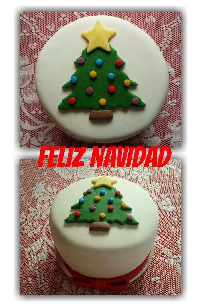 #reposteriacreativa #tartas #fondant #tartasdecoradas #navidad