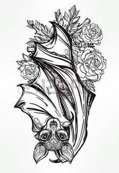 Cute bat tattoo