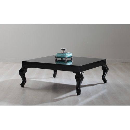 New Modern Contemporary Glossy Lacquer Lukens Coffee (Brown) Table In White  Color