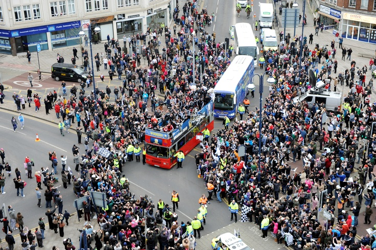 Swansea City Capitol One Cup victory parade
