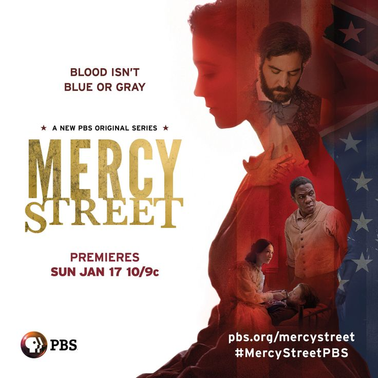 Mark your calendars! Two months until the new PBS original series MERCY STREET is here.  Help spread the word and reblog this post!