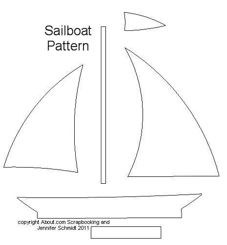 sailing boat cut out template