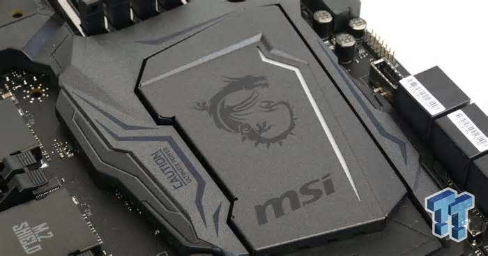 MSI Z370 GODLIKE GAMING Motherboard Review The lines that are drawn by the translucent plastic on near the VRM are really cool. The way the light is dispersed in the audio section and PCH heat sink are really neat