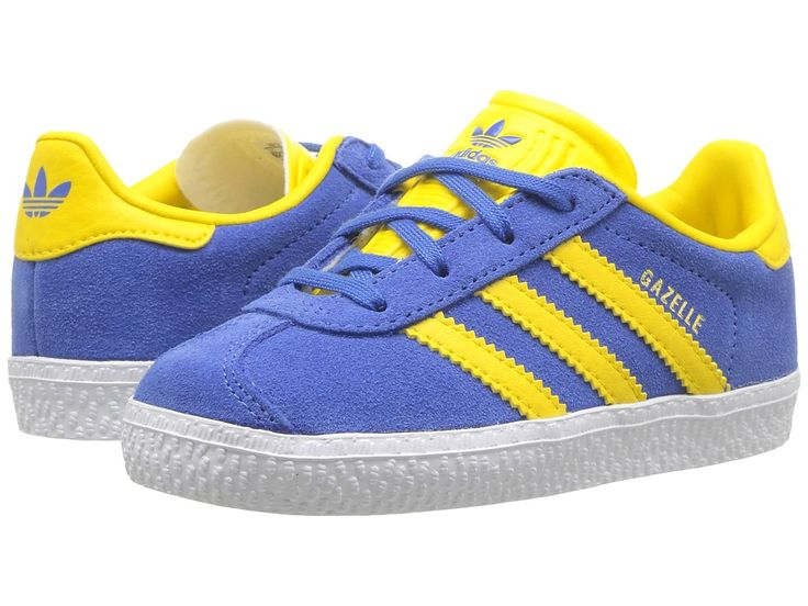 adidas Originals Kids Gazelle (Toddler) Kids Shoes Blue/Ice Yellow/Gold