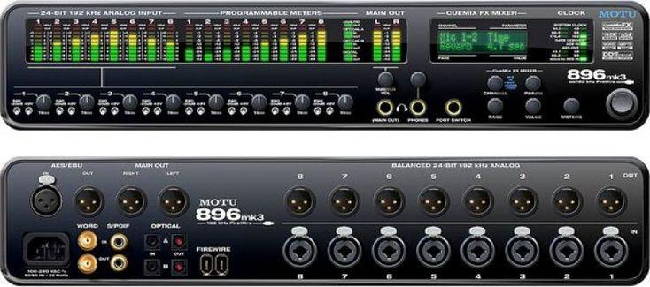 motu 896 mk3 firewire hybrid audio interface carte son sound card pinterest audio and sons. Black Bedroom Furniture Sets. Home Design Ideas