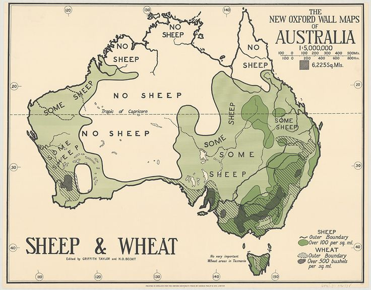Sheep and wheat distribution map