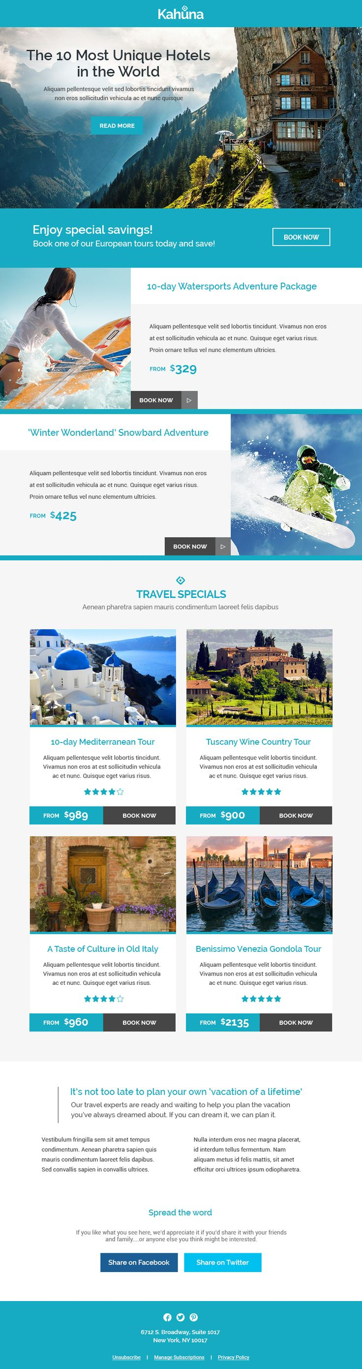 Kahuna is a super responsive Multipurpose #newsletter that adapts to desktop…
