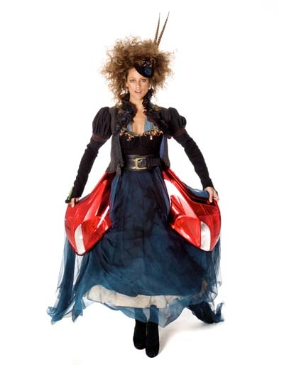 This gown by Judy Clark is made from recycled Ford Focus parts. Pretty fantastic!: 2012 Ford, Fashion Judyclark, Ford Focus, Dresses, Parts, Necklace, Judy Clark