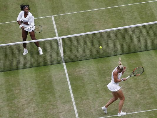 The Latest: Williams sisters win Wimbledon 6th doubles title