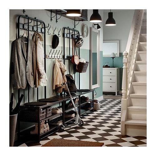 PINNIG Coat rack with shoe storage