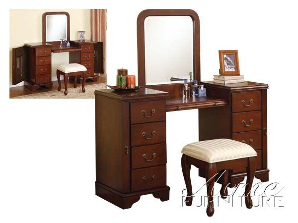 Vanity makeup table woodworking plans woodworking for Makeup vanity plans