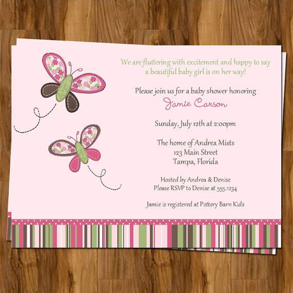 24 best images about tarjetas on pinterest | printable butterfly, Baby shower invitations