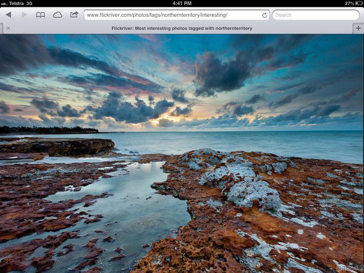 Monsoonal sunset Nightcliff Darwin