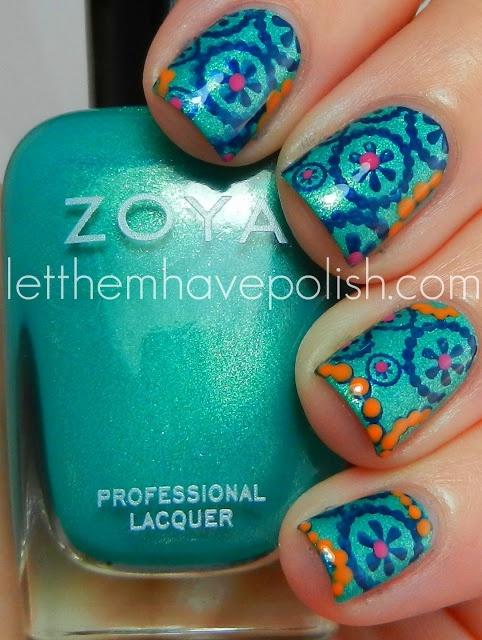 Let them have Polish!: Zoya Zuza Summery Nail Art