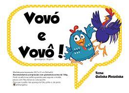 Resultado de imagem para plaquinhas galinha pintadinha para imprimir