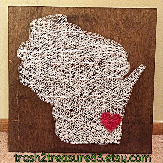 MADE TO ORDER Wisconsin State String Art by DesignsEntwinedLLC
