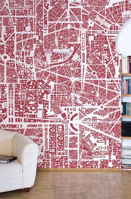 Europe  Red- Cobalti Wallpaper