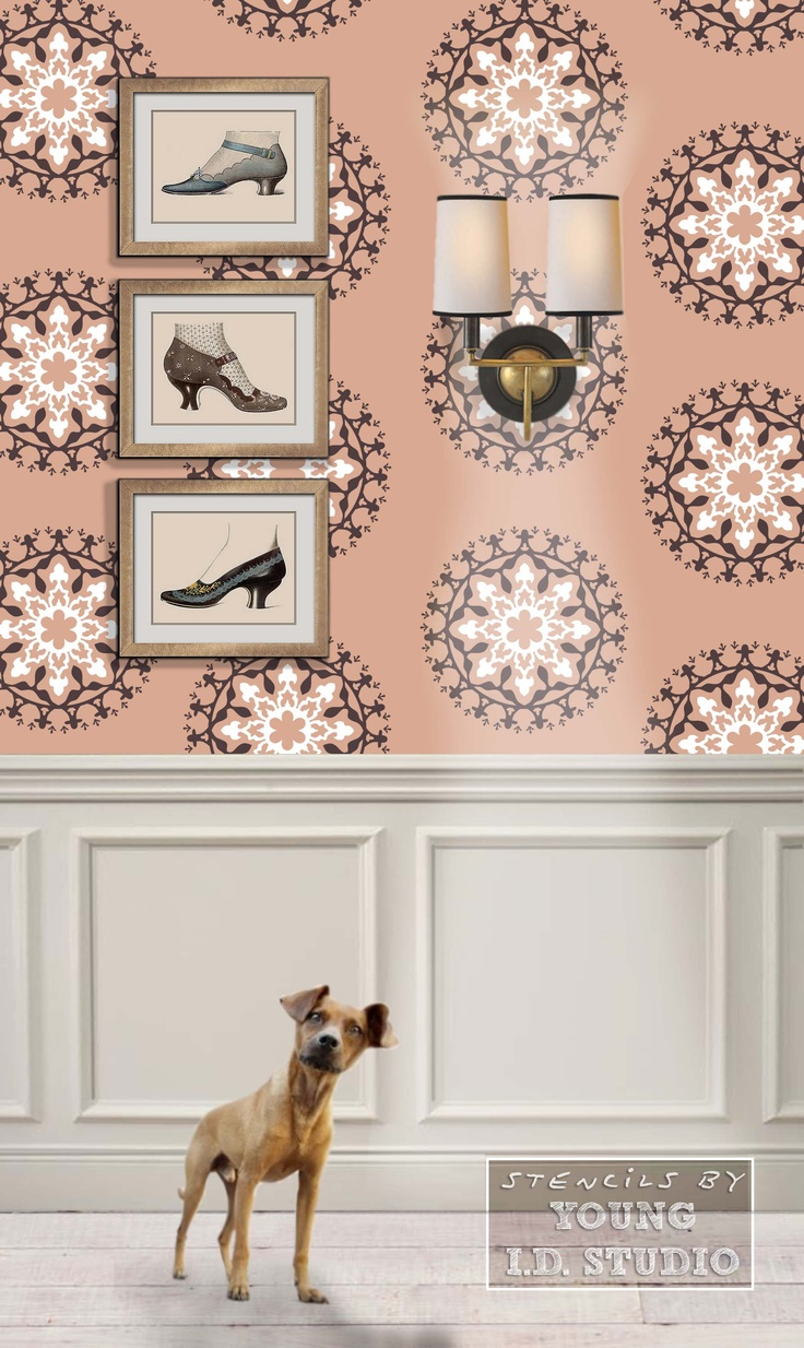 64 best wall stencils images on pinterest wall stenciling diy wheel motif designer stencil by young id studio stencils diy stencil decorwall stencilingstencilsstencil amipublicfo Gallery
