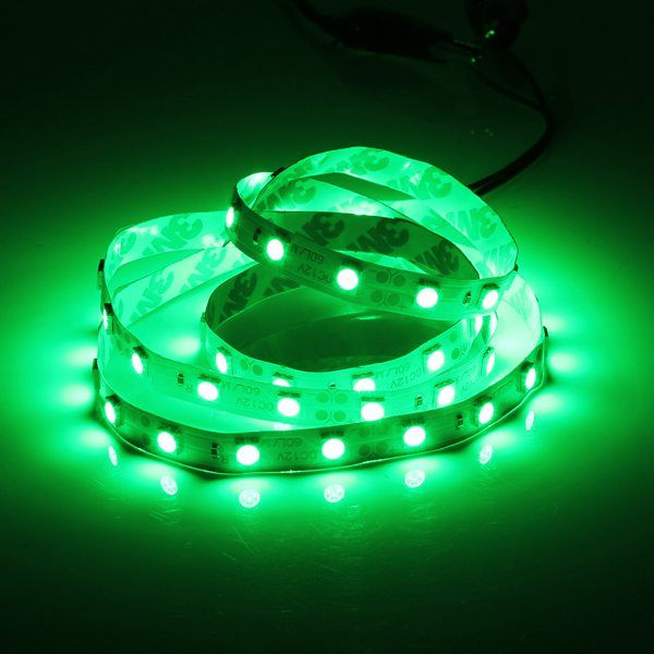 1M 5050 SMD 60LED Flexible LED Strip Light RGB/Red/Blue Non-Waterproof 12V