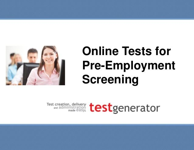 15 best images about 1111pre employment testing on Pinterest - Job Test