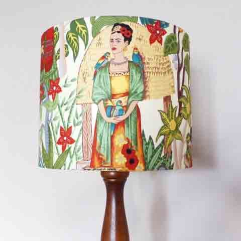 New arrivals in store. Stunning lamp shades by #MesmerizingBlue Freda Khalo Tea Shade, 30d x 25h. $80