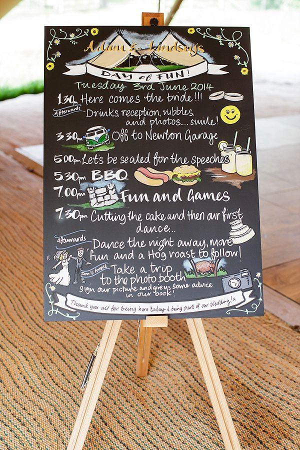 Lemon Lime Tipi Wedding Black Board Sign http://www.tuxandtalesphoto.co.uk/