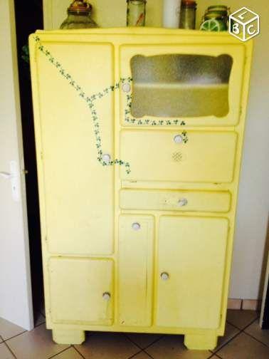 Meuble de cuisine vintage galeo4230 portet sur for Cirer ou vernir un meuble