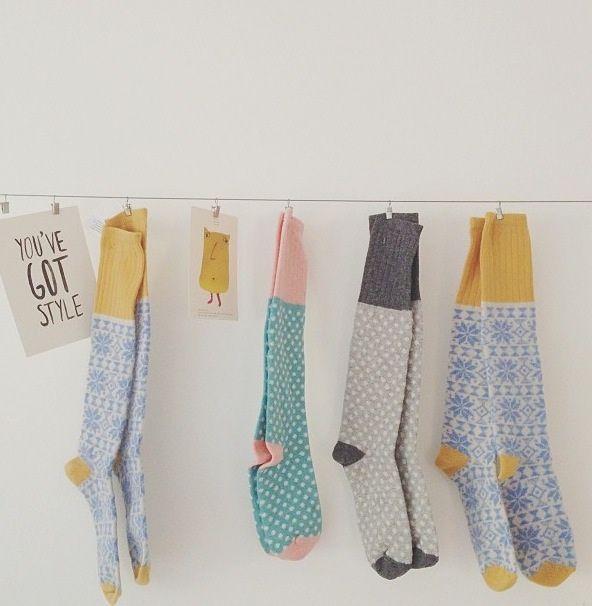 Catherine Tough handmade lambs wool cosy socks    Tea and Kate