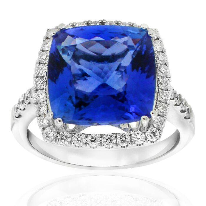Kilimanjaro Collection Deep purple/blue cushion shape Tanzanite set with diamonds in this amazing ring from the Gerard McCabe Kilimanjaro Collection. Tanzanite, 1000 times rarer than diamonds. In Adelaide Arcade  #tanzinite #ring #diamonds #whitegold #unique #luxury #gift #gerardmccabe #adelaide