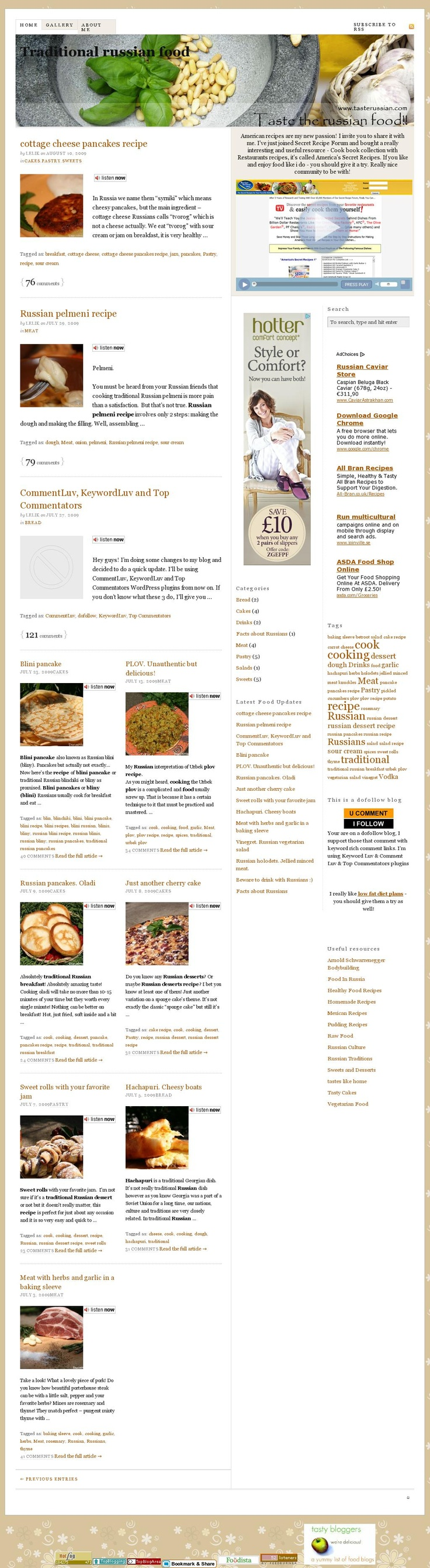 Taste Russian - Traditional Russian Food  The website 'http://tasterussian.com/' courtesy of @Pinstamatic (http://pinstamatic.com)