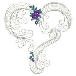 Rippled Floral Hearts 10 - 3 Sizes! | Floral - Flowers | Machine Embroidery Designs | SWAKembroidery.com Ace Points Embroidery