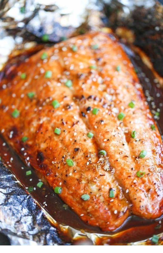Asian salmon in foil   – Recipes to cook