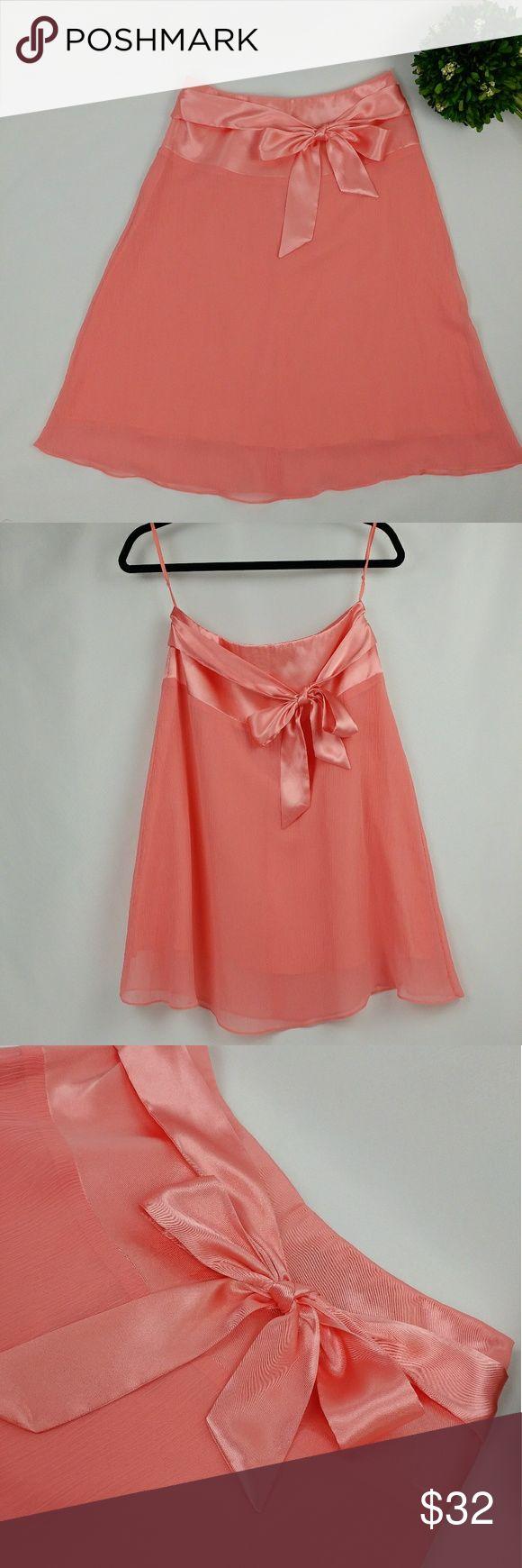 Selling this Victorias Secret silk and chiffon coral midi skirt on Poshmark! My username is: glamourrack. #shopmycloset #poshmark #fashion #shopping #style #forsale #Victoria's Secret #Dresses & Skirts