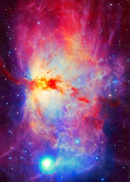 neon nebula in space -#main