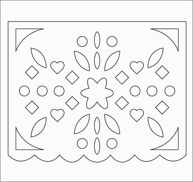 Free Printable Papel Picado Template Best Moldes Para
